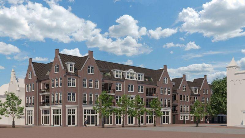 Nieuwbouw van 24 appartementen en commerciële ruimte Hoogeveen