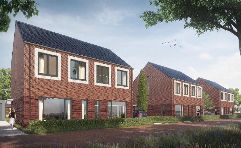 Start verkoop nieuwbouw 2 onder 1 kap woningen in Veendam